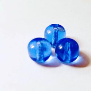 Glaskralen Blauw Rond 7mm