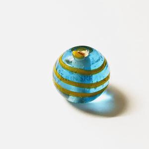Glaskralen Blauw-Extra's Rond 10mm