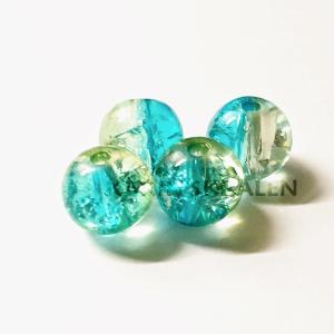 Glaskralen Blauw-Extra's Rond 7mm