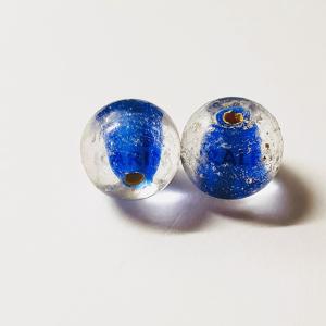 Glaskralen Blauw-Extra's Rond 9mm