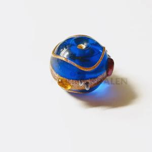Glaskralen Blauw-Extra's Rond 13mm
