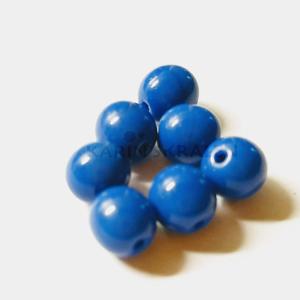 Glaskralen Blauw Rond 5mm