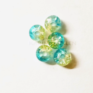 Glaskralen Blauw-Mixkleur Rond 2mm