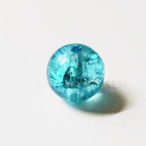 Glaskralen Lichtblauw Rond 10mm