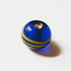 Glaskralen Blauw-Extra's Rond 8mm