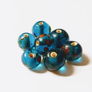 Glaskralen Blauw-Extra's Rond 6mm