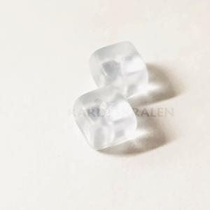 Glaskralen Blauw Vierkant 6mm