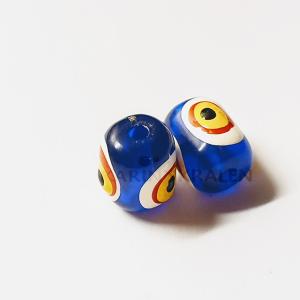 Houten kralen Blauw-Extra's Cilinder 12mm